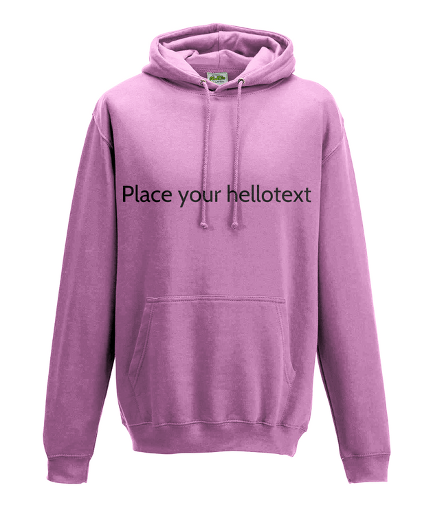 Hooded Sweatshirts-MOQ 10 pcs per size/colour with customised design @ US$6.50 per pc