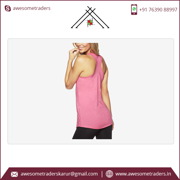 Women's The Ideal Racerback Tank with customised print-MOQ 10 pcs/size/colour @ US$1.75 per pc