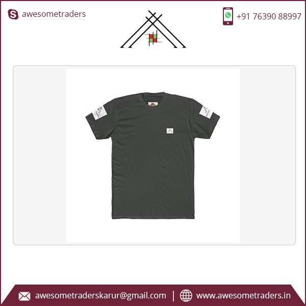 Men's Premium T-Shirt-150 gsm with front/back/sleeves custom print-MOQ 10/size/colour @ US$3.50 per pc