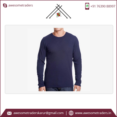 Men's Premium Long Sleeve Crew neck tshirt -custom print-MOQ 10/size/colour @ US$3.00 per pc