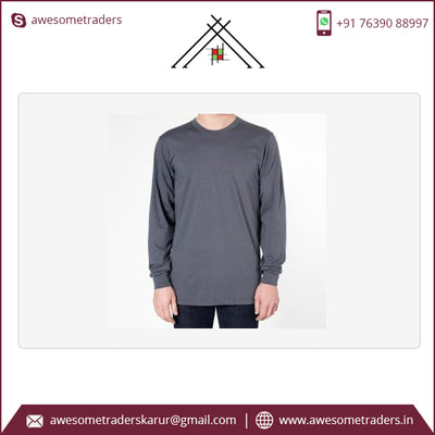 Men's Long sleeve Tshirts plain and custom print -MOQ 10 per size/colour @ US$2.00 per pc