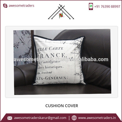 Square Shape and Printed Pattern Europe Style Cushion Cover