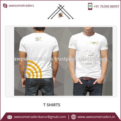 Front and Back Custom Printed Men's Tshirt-MOQ 20 pcs per size/colour @ US$3.50 per pc