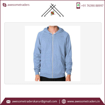 Zip up Mens Hoodies-MOQ 10 pcs per size/colour with customised design @ US$7.50 per pc