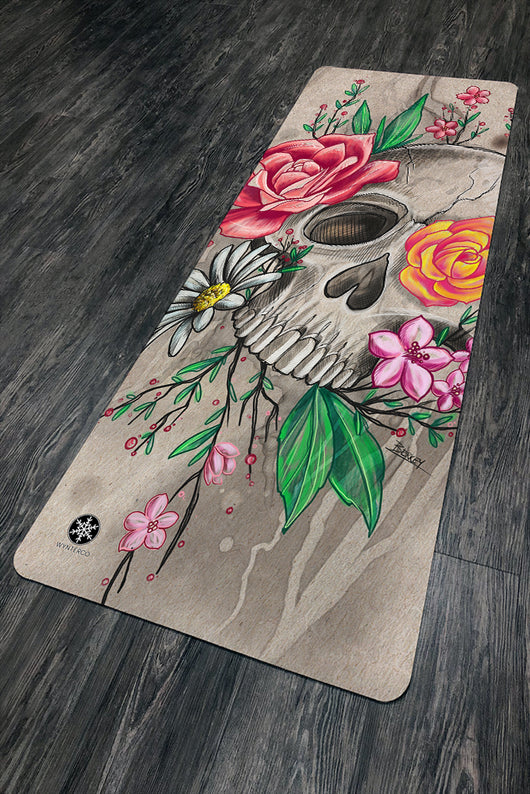 vivid and great in style modern style biggest selection Crafty Skull Yoga Mat