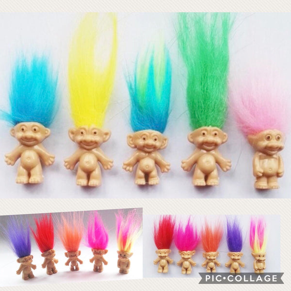 5 pack of Mini Trolls