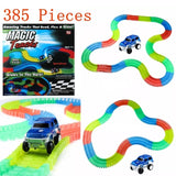 385pc Magic Tracks Set Glow in the Dark