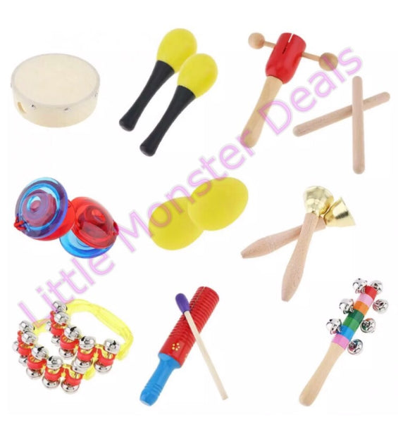 10 Piece Toddler Band Instruments