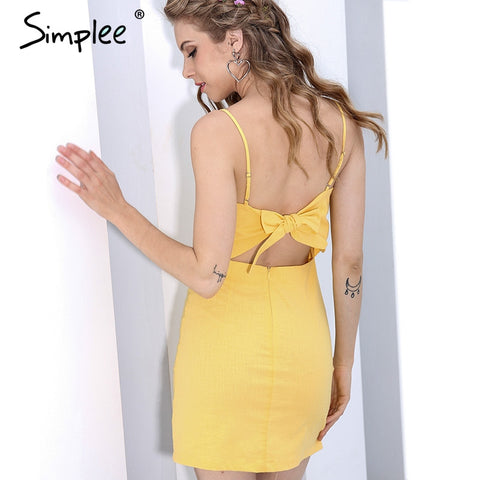 Backless beach summer dress - Uniquestylebrands