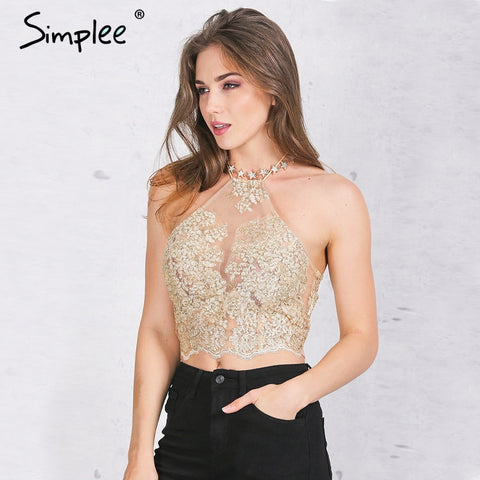 Elegant white lace crop top - Uniquestylebrands
