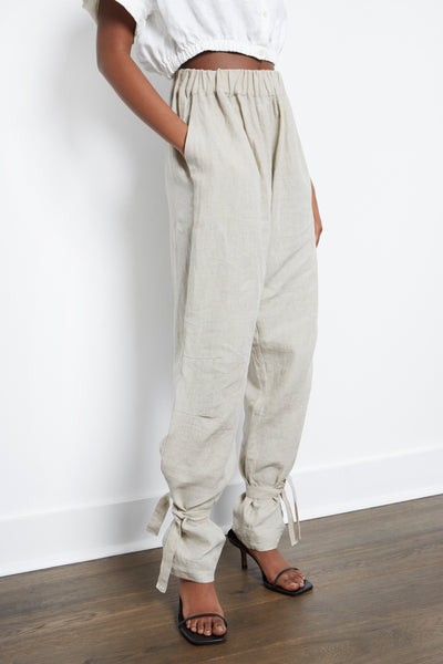 relaxed linen pants womens