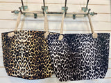 Leopard Rope Totes