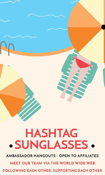 Hashtag Sunglasses Collab Program wants to have #FUN this summer with its ambassadors!