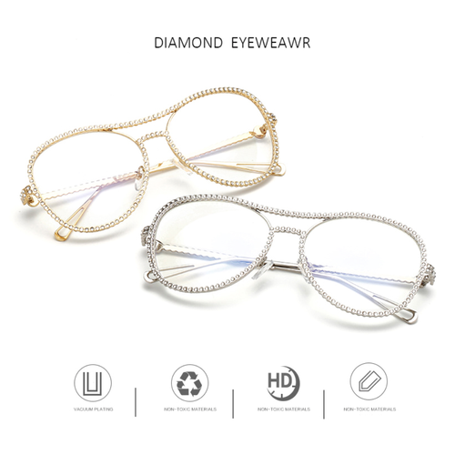 #Diamond Clear Frames - 3 Color Options