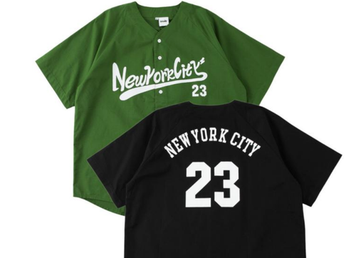 No Iron Needed 'New York City' Baseball Inspired Cotton Button Up - Army Green or Black
