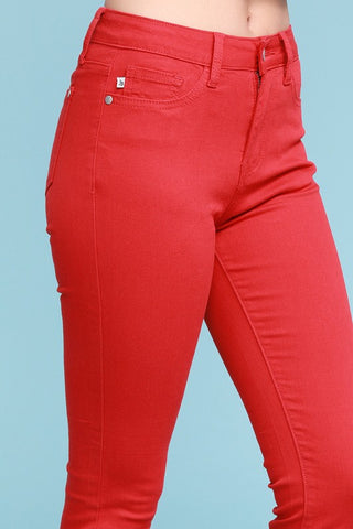 JUDY BLUE Red Hot Skinny Jeans