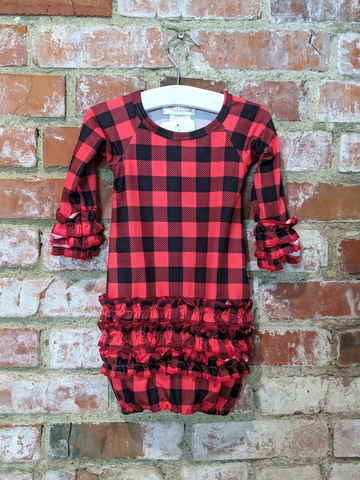 Buffalo Plaid Gown