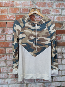 Camo Combo Pullover Hoodie