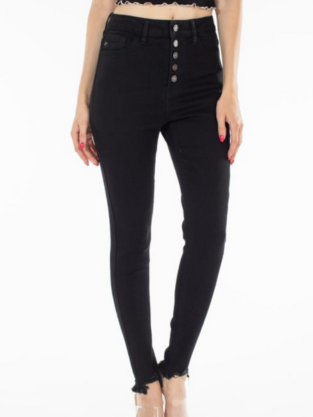 KANCAN High Rise Black Skinny (KC7273BK)