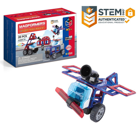 Magformers Amazing Police & Rescue 26 piece Set