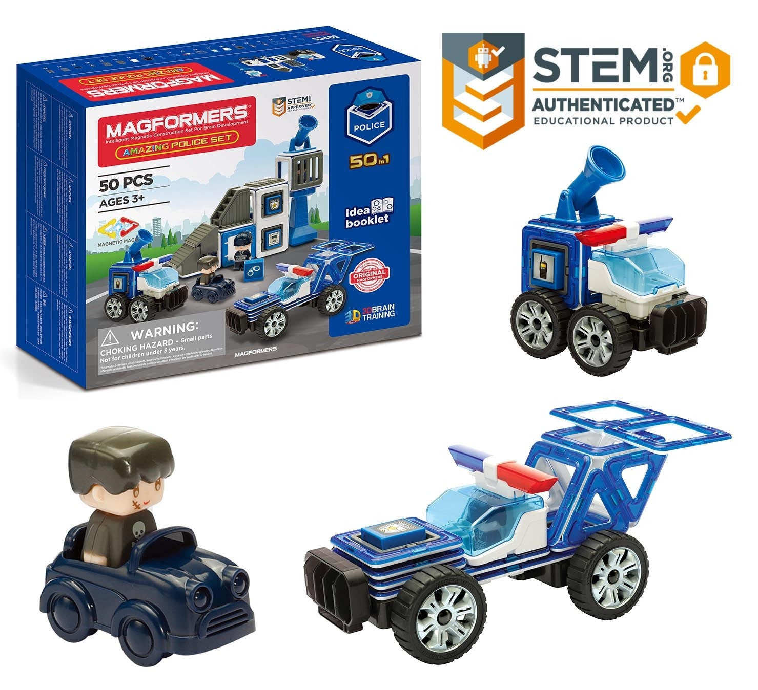 Magformers Amazing Police & Rescue 50 piece Set