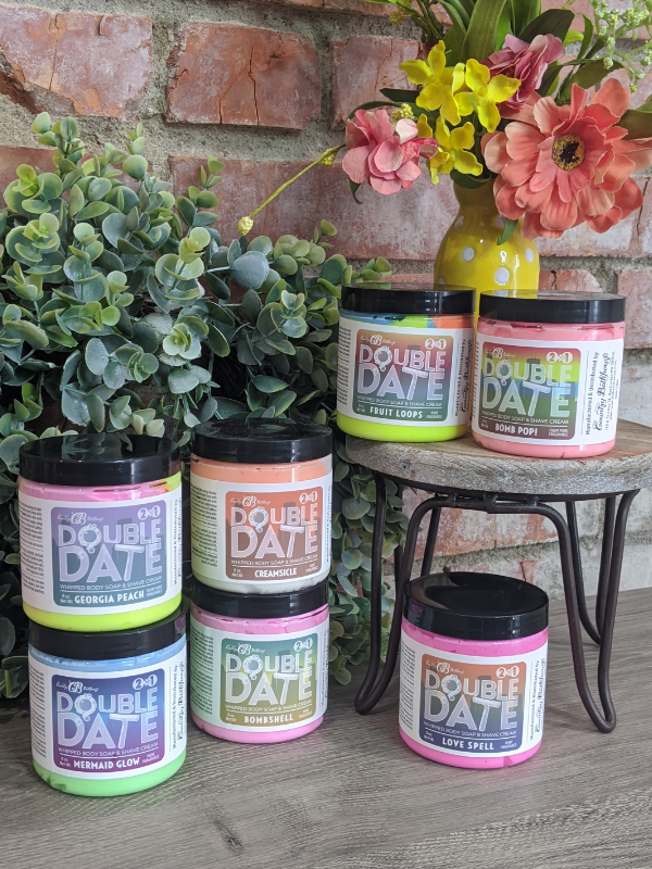 Country Bathhouse - Double Date Whipped Soap & Shave Cream