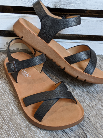 GIRLS Black Bella Sandal