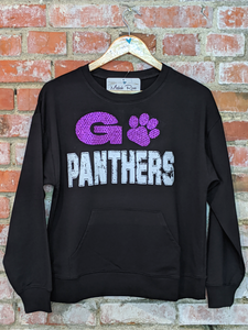 GO PANTHERS Crew Neck Pocket Top