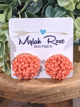 Throw the Confetti CORAL Studs