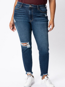 KANCAN Gemma High Rise Distressed Skinny (KC8567D-P)