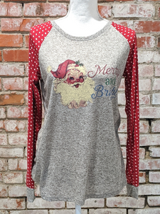 Merry & Bright Polka Dot Sleeve Top