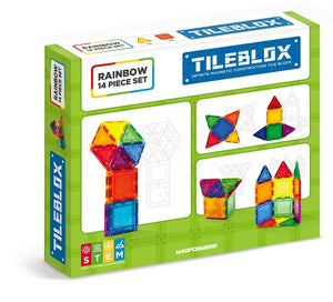 Tileblox Rainbow 14 piece Set