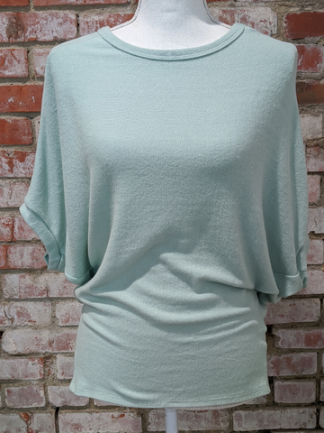 Cashmere Round Neck Dolman Top
