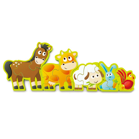 Number & Farm Animals Puzzle