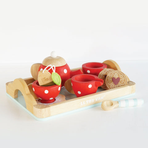 Wooden Tea & Tray Set