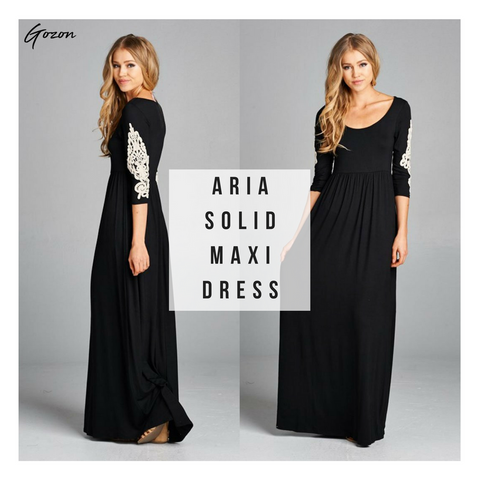 Aria Solid Maxi Dress - Top 5 - GOZONCOM - 1/27/2018