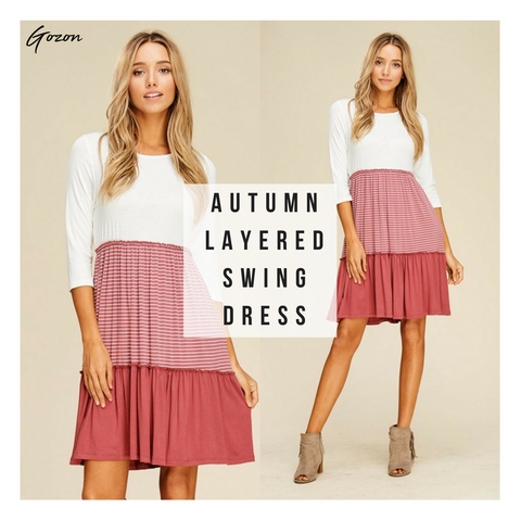 Autumn Layered Swing Dress - Top 5 - GOZONCOM - 1/27/2018