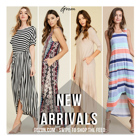 Instagram Post - Maxi Dresses: New Arrivals - GOZONCOM - 1/31/2018