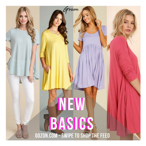 New Arrivals - Basics: New Arrivals  - GOZONCOM - 1/30/2018