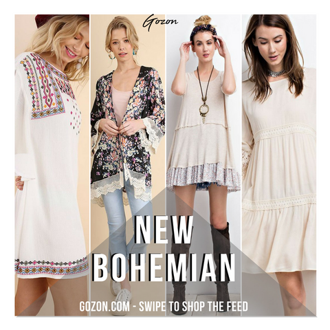Instagram Post - Boho: New Arrivals - GOZONCOM - 2/02/2018