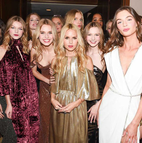 Rachel Zoe with Models at Collection Debut in 2017 at Sunset Tower Hotel