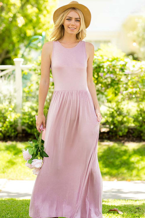 Solid Maxi Dress - maxi - GOZON