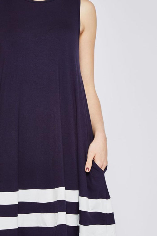 Sasha Shift Dress : Navy/Ivory
