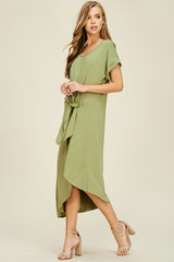 Audrey Asymmetrical Dress : Olive