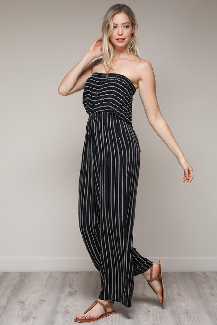 Rhiane Tube Top Jumpsuits : Black