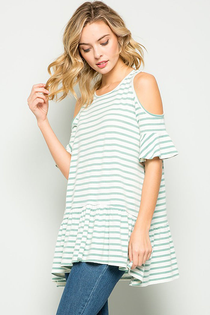Lexi Stripe Tunic Top : Mint