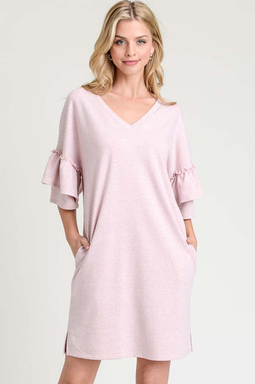 Christine Tiered Sleeve Dress : Pink
