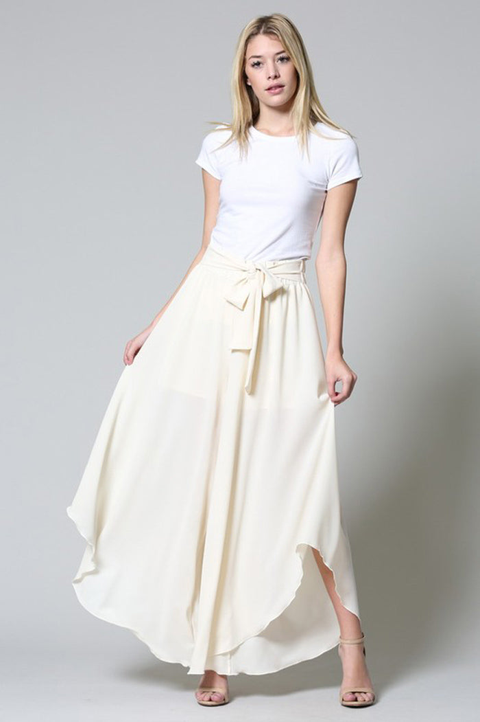 Chole Wide Leg Trousers : Cream