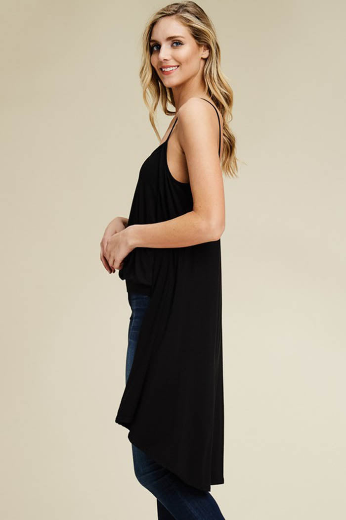 Liz Cape Tank Top : Black