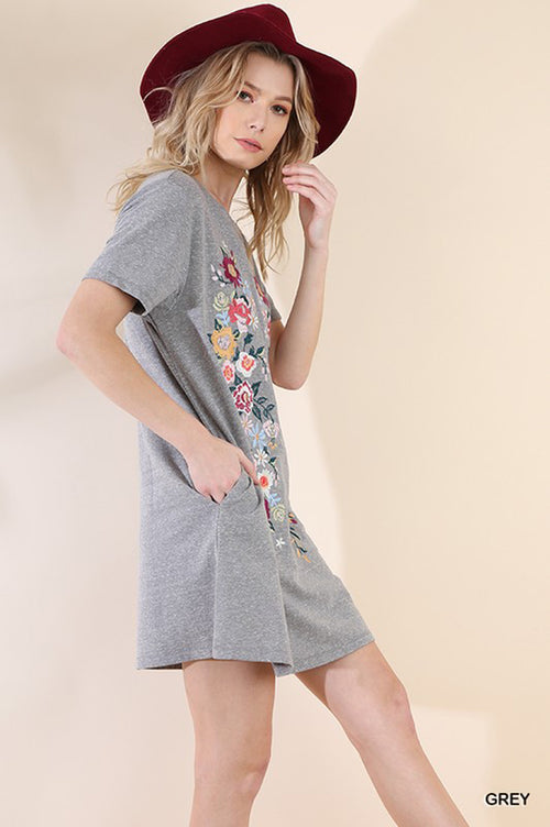 Katherine T-Shirt Dress : Grey